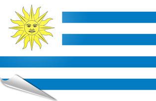 Adhesive flag Uruguay
