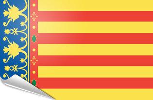 Adhesive flag Valencia
