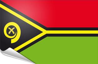 Adhesive flag Vanuatu