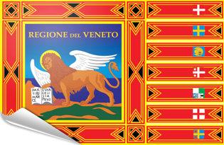 Adhesive flag Veneto