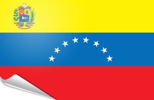Adhesive flag Venezuela 1954-2006