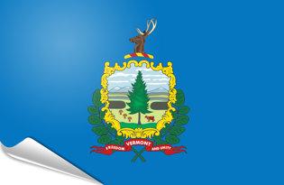 Adhesive flag Vermont