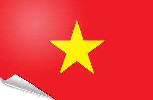 Adhesive flag Vietnam