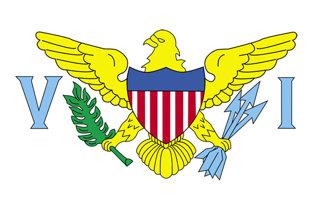 Adhesive flag Virgin Islands
