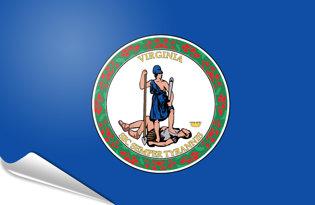 Adhesive flag Virginia