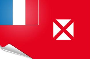 Adhesive flag Wallis and Futuna