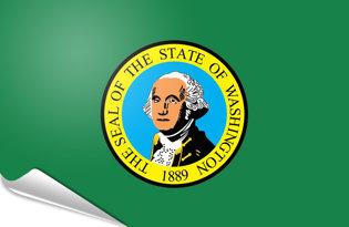 Adhesive flag Washington