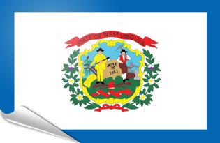 Adhesive flag West Virginia