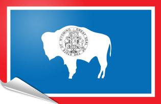 Adhesive flag Wyoming