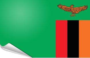 Adhesive flag Zambia
