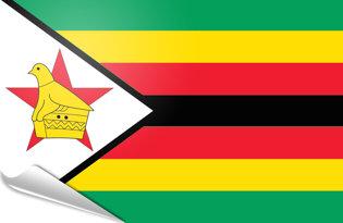 Adhesive flag Zimbabwe