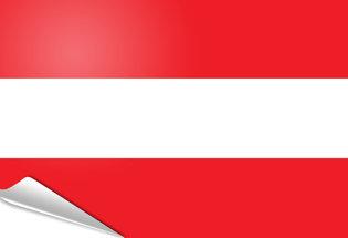 Adhesive flag Austria