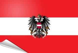 Adhesive flag Austrian State Flag