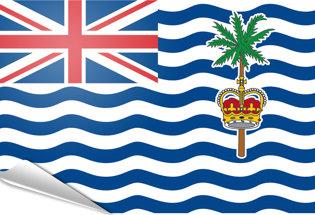 Adhesive flag British Indian Ocean