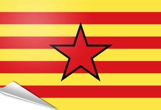 Adhesive flag Estelada aragonesa