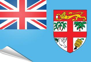 Adhesive flag Fiji