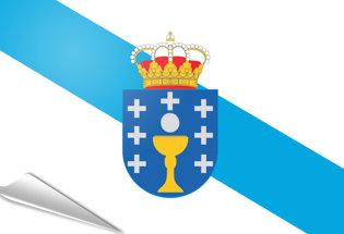 Adhesive flag Galicia