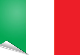Adhesive flag Italy