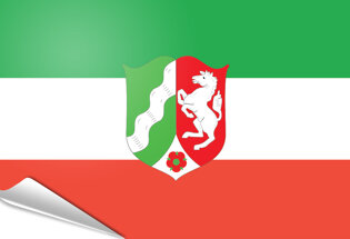 Adhesive flag North Rhine Westphalia