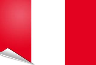 Adhesive flag Peru