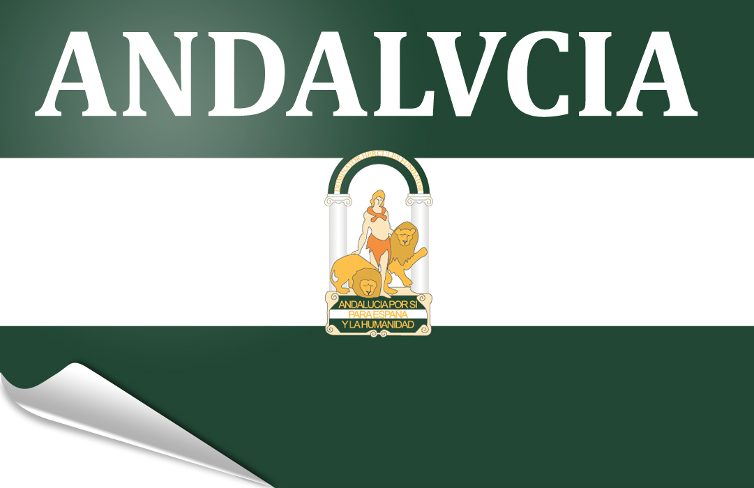 flag sticker of Andalusia-arbondaira