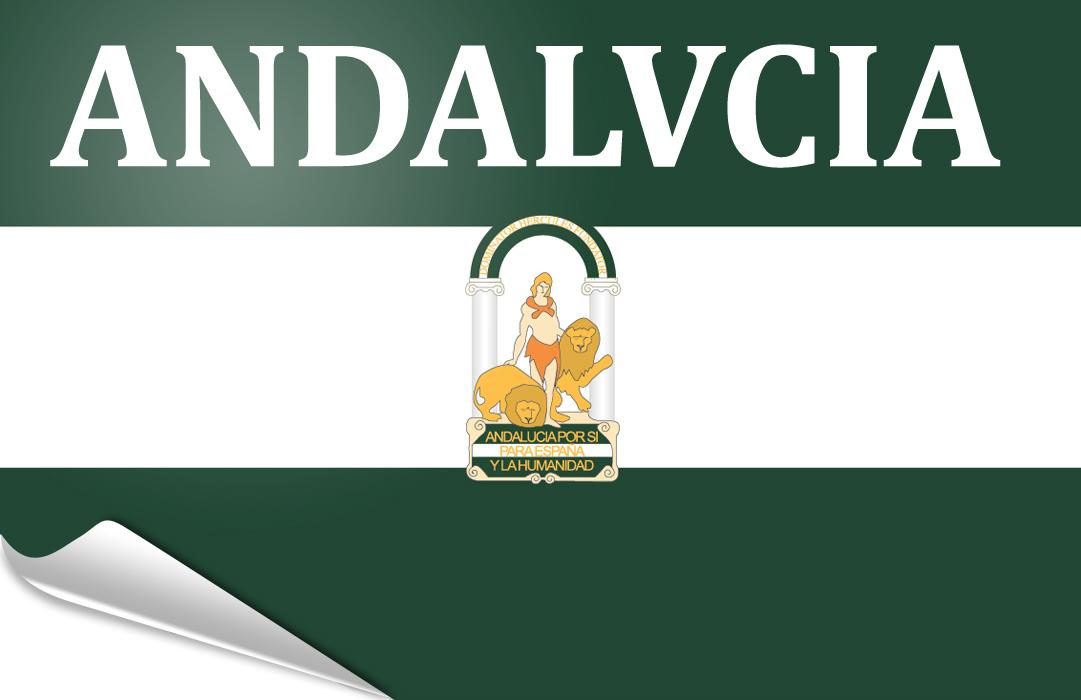 Flag sticker of Andalusia-arbondaira