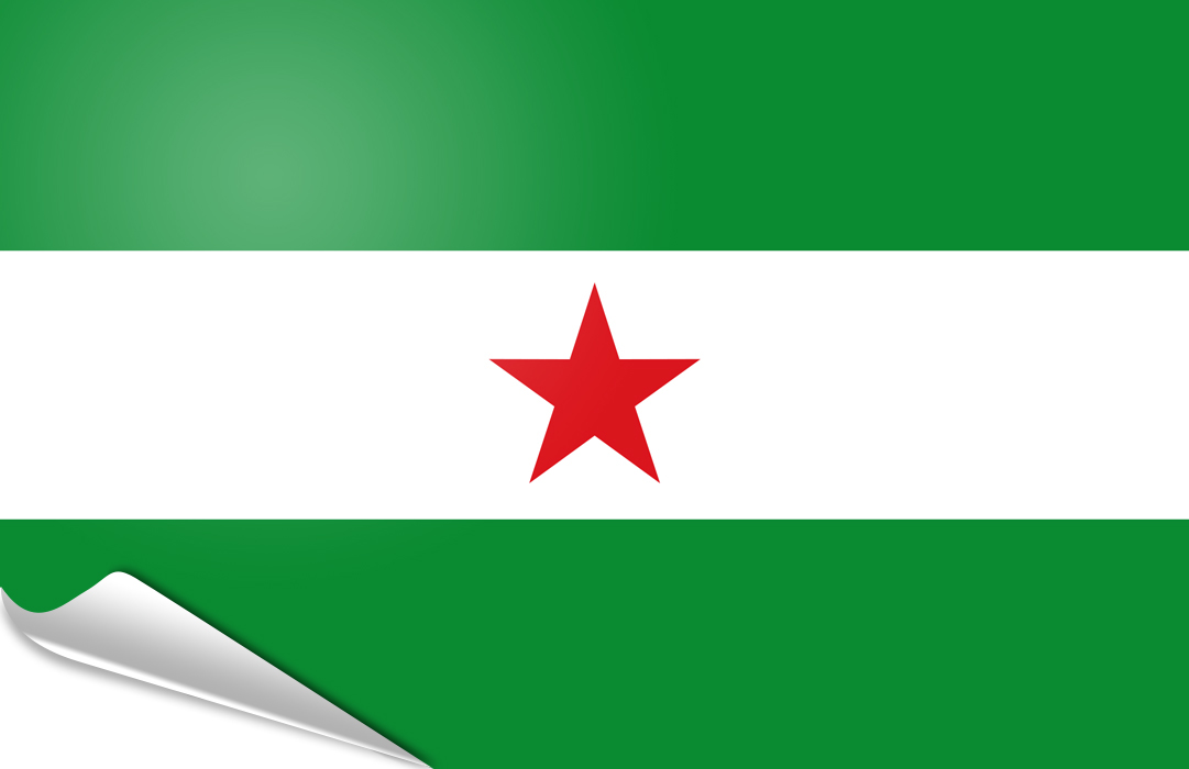 flag sticker of Andalusian nation