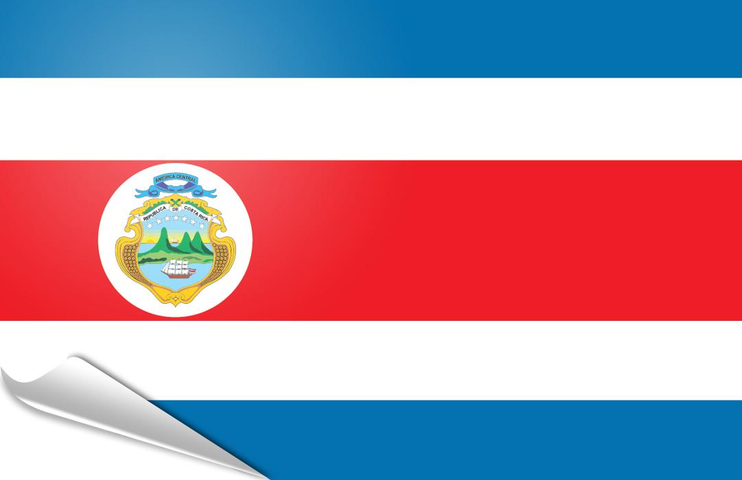 flag sticker of Costa Rica