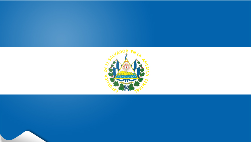 flag sticker of El Salvador