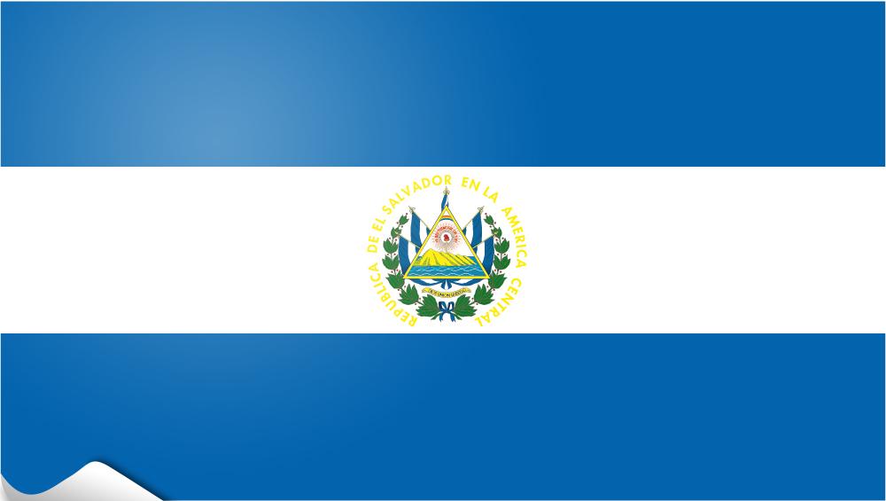 bandera pegatina de El Salvador