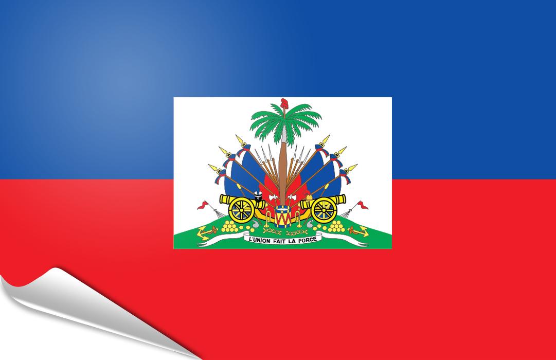 bandera adhesiva de Haiti