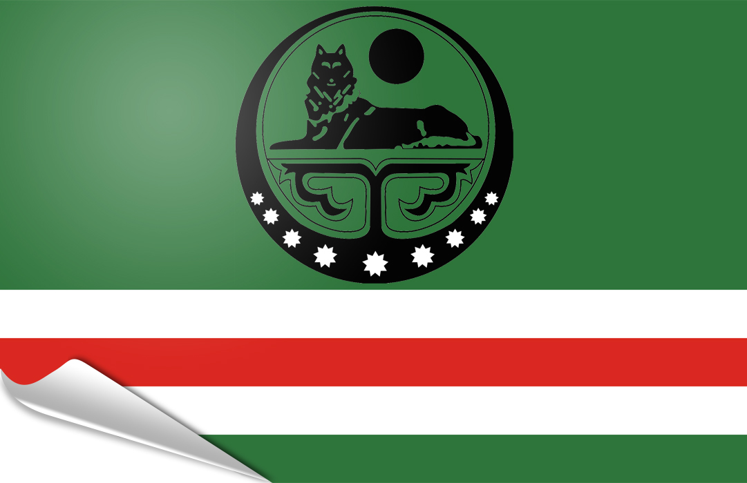 flag sticker of Chechen Republic of Ichkeria