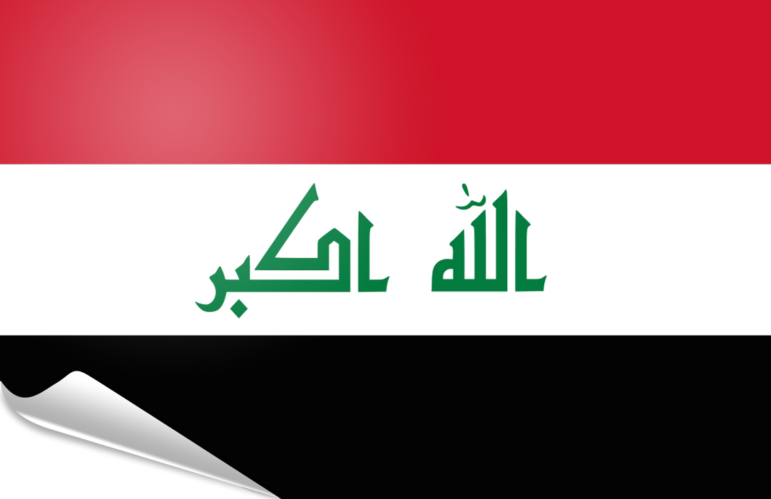 flag sticker of Irak 1991-2008