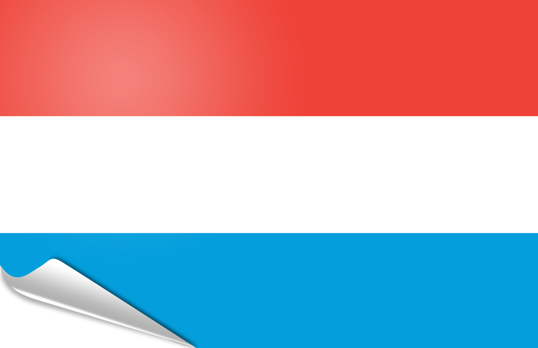 Flag sticker of Luxembourg