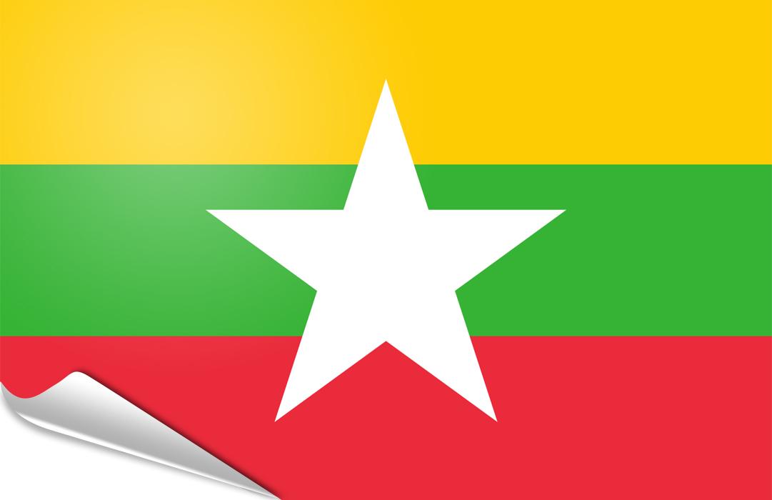 Myanmar aufkleber fahne