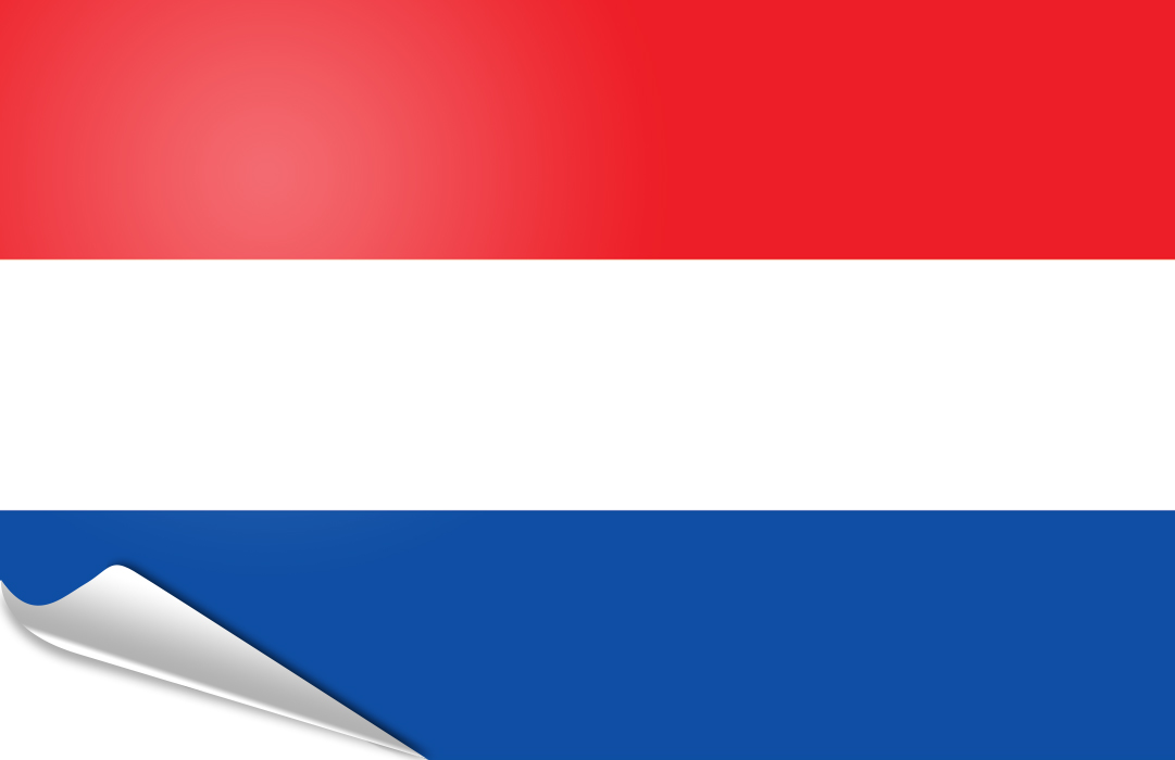 flag sticker of Netherlands