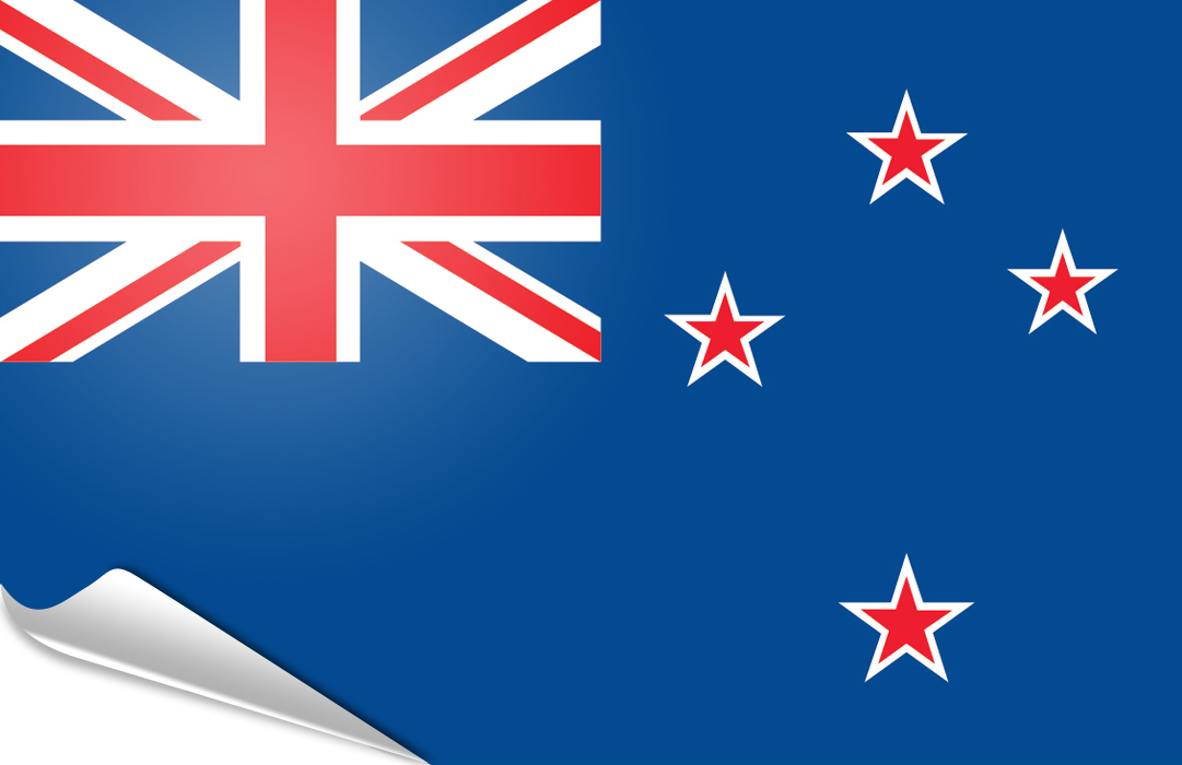 Flag sticker of New Zealand