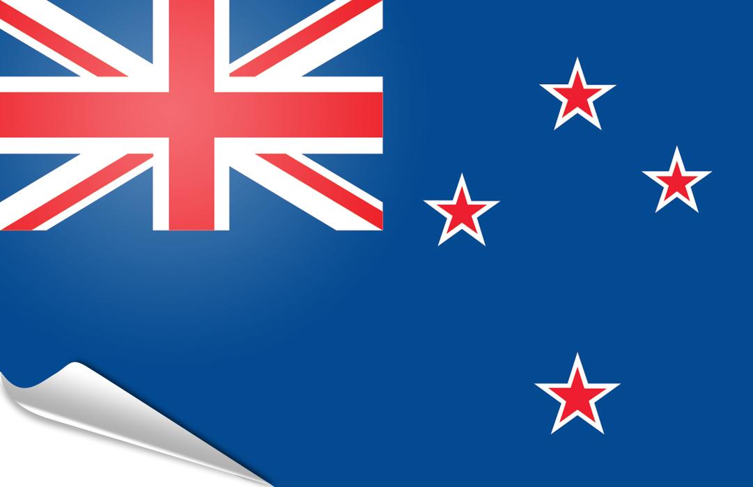 drapeau adhésif du Nouvelle-Zelande