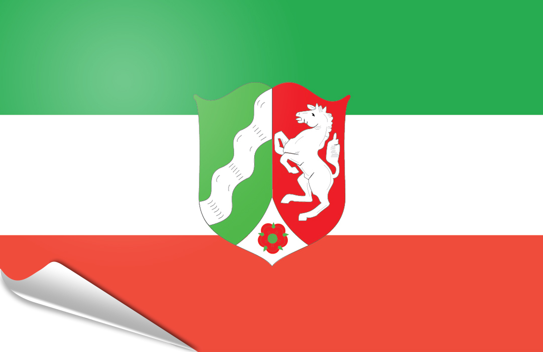 Flag sticker of North-Rhine-Westphalia