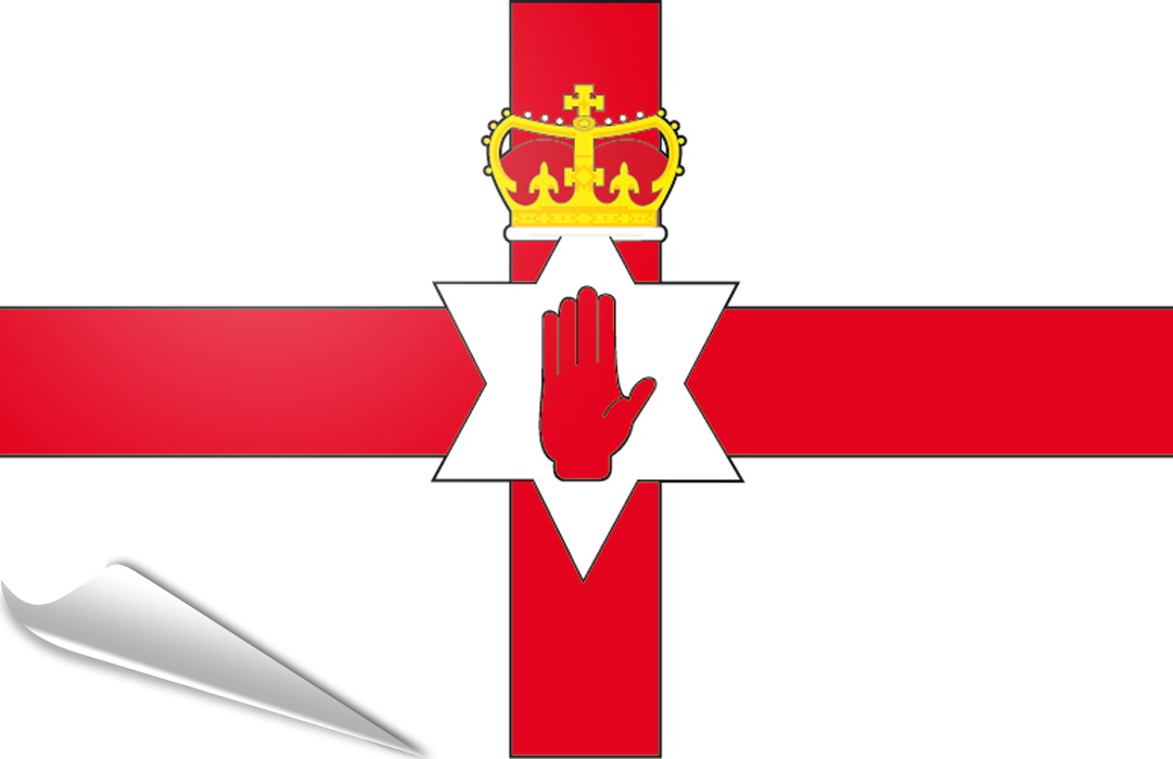 flag sticker of Northern Ireland-Ulster