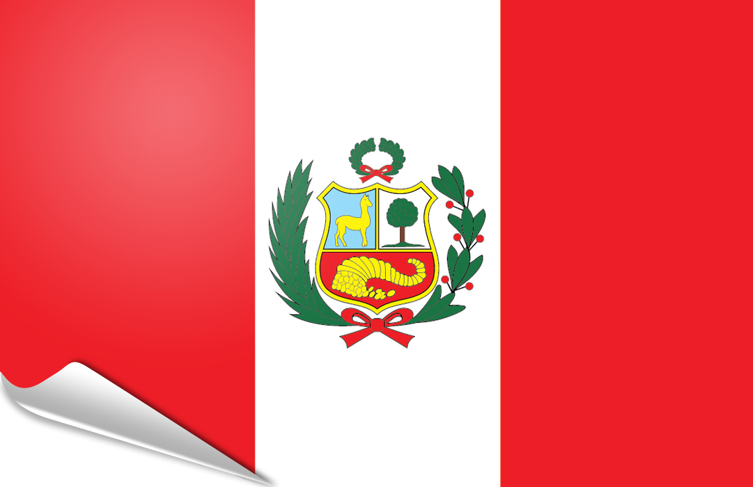 Flag sticker of Peru Lux