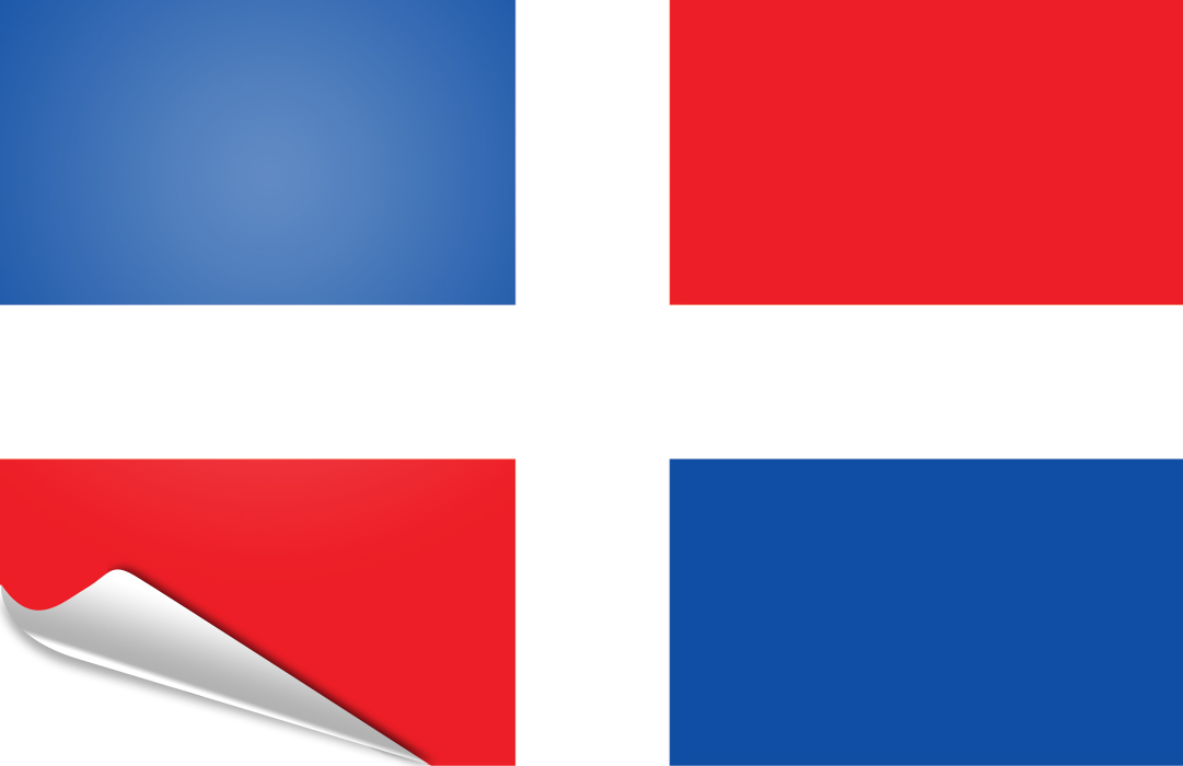 flag sticker of Dominican R.