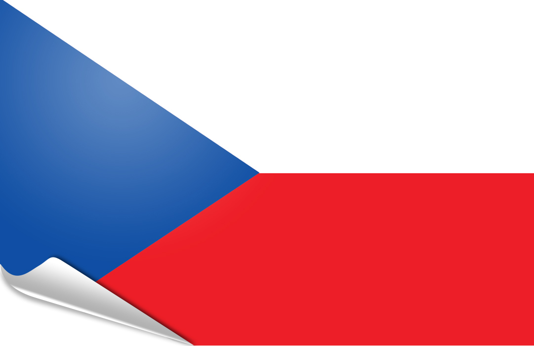 flag sticker of Czech Republic