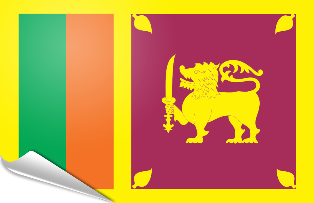 Flag sticker of Sri Lanka