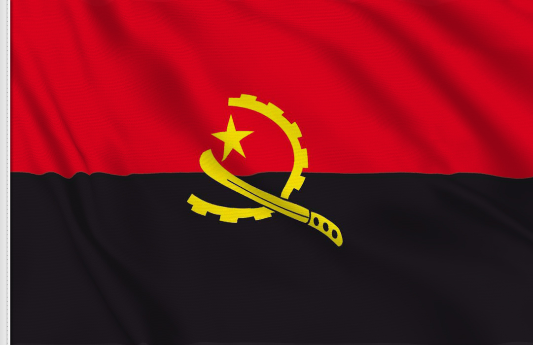 flag sticker of Angola