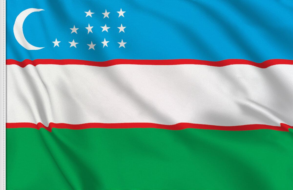 golden spear top Uzbek Desk Flag 15 x 10 cm AZ FLAG Uzbekistan Table Flag 4 x 6