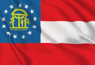 Flag Georgia state