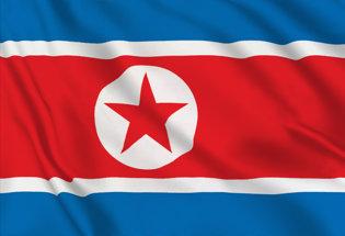 Bandera Corea Norte