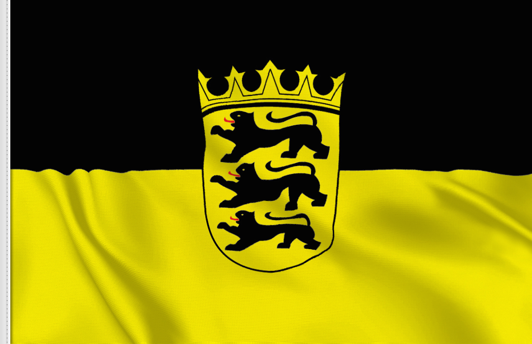 Baden-Wurttemberg aufkleber fahne