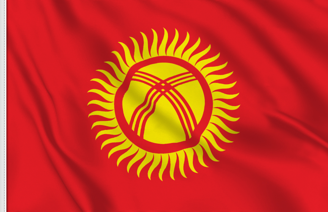 flag sticker of Kyrgyzstan